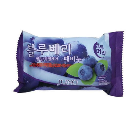 JUNO Blueberry Peeling Soap