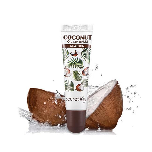 Кокосовый бальзам для губ Восстанавливающий бальзам для губ Secret Key Coconut Oil Lip Balm Never Dry liuliu.ru