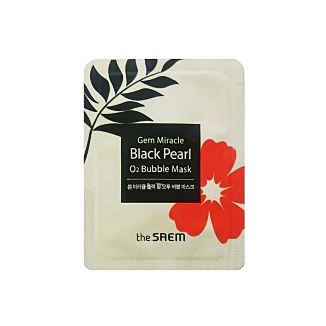 Пробник The Saem Gem Miracle Black Pearl O2 Bubble Mask sample