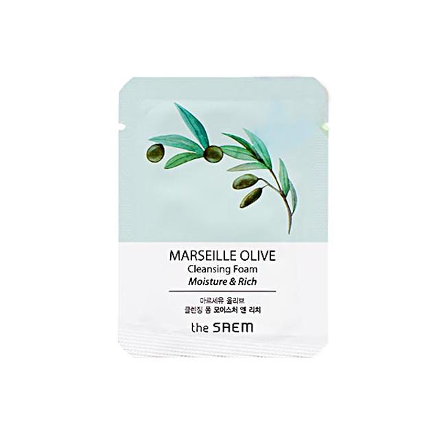 пробник The Saem Marseille Olive Moisture Cleansing Foam sample