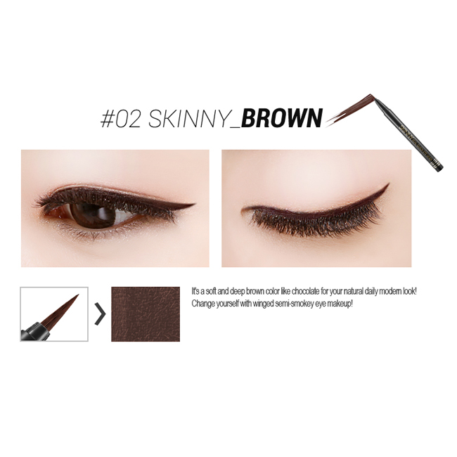 Подводка Secret Key Skinny Real Quick Eye Liner brown