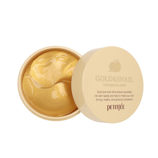 Патчи Petitfee Hydro Gel Eye Patch Gold & Snail