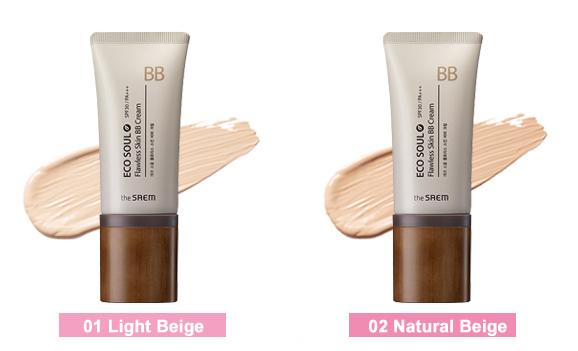 Оттенки Eco Soul Flawless Skin BB Cream