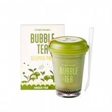 Ночная маска Etude House Bubble Tea Sleeping Pack Green Tea