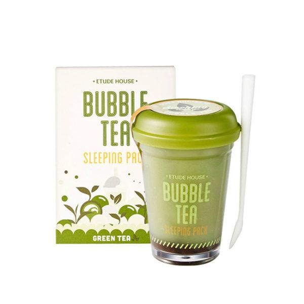 Ночная маска Etude House Bubble Tea Sleeping Pack Green Tea