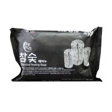 JUNO Charcoal Peeling Soap